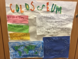 "All students created a poster with the height of their structure, architect who created it, and the year it was built. They also listed 3 interesting facts and located the structure on their world map. The final piece was their ""blue print"" before they started the 3D models."